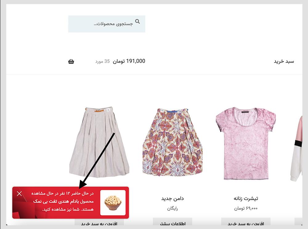 افزونه WooCommerce Notification | افزونه اعلان هوشمند | افزونه نوتیفیکیشن ووکامرس | نمایش نوتیفیکیشن در فروشگاه | افزونه نوتیفیکیشن