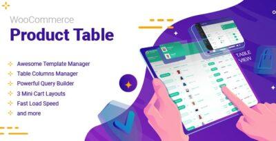 افزونه WooCommerce Product Table