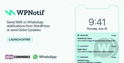 WPNotif v2.5.1 NULLED - پیامک وردپرس و اعلانات WhatsApp